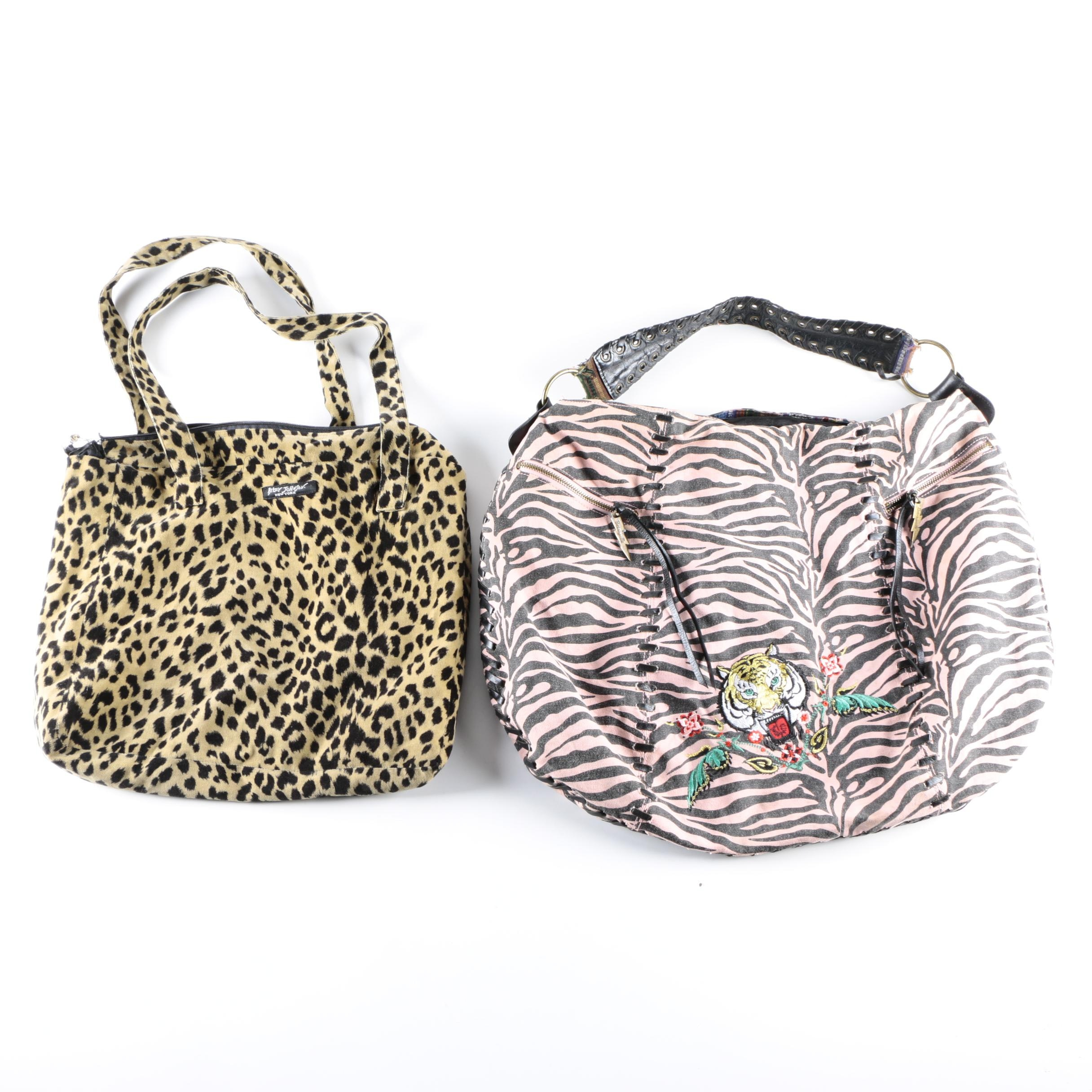 Betsy Johnson Animal Print Handbags Including Betseyville