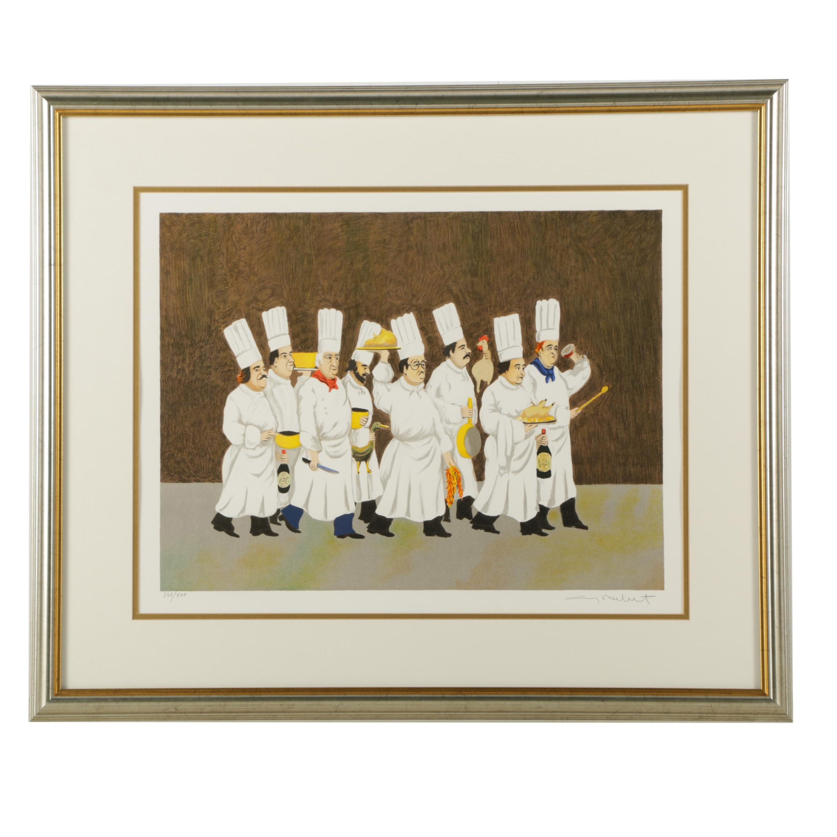 Limited Edition Lithograph on Paper of Chefs after Guy Buffet
