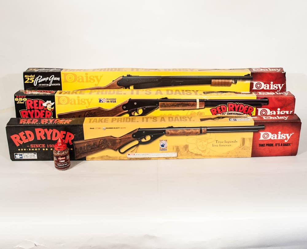 Daisy BB Rifles Including Red Ryders and a Model 25 Pump Gun