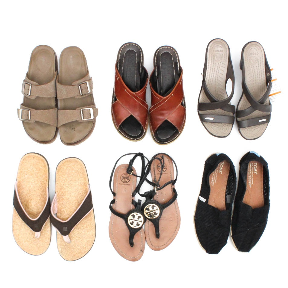 Tory Burch, Toms, Crocs and More Designer Sandals and Casual Shoes