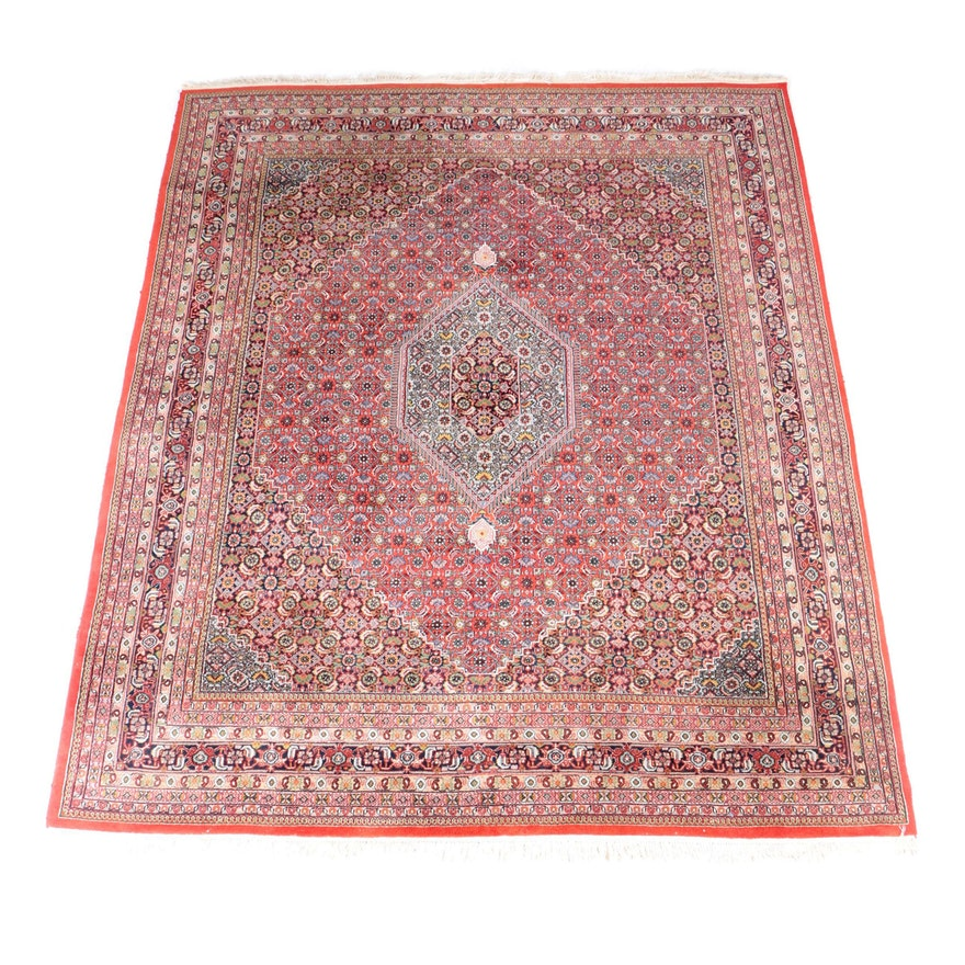 Hand Knotted Persian Hamadan Wool Area Rug Ebth: Hand-Knotted Persian Bijar Area Rug