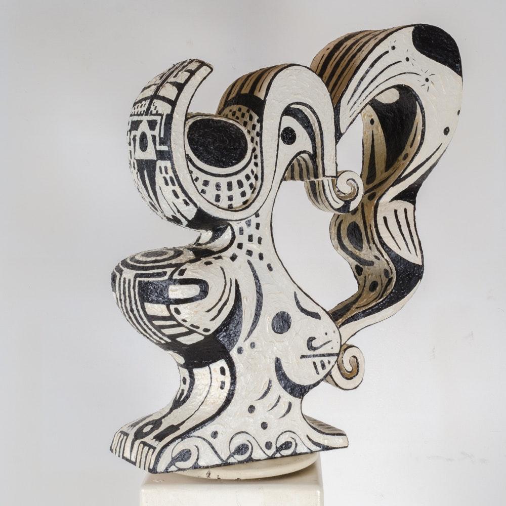 "Bill Schiffer Mixed Media Sculpture ""Vessel 1 - Sally"""