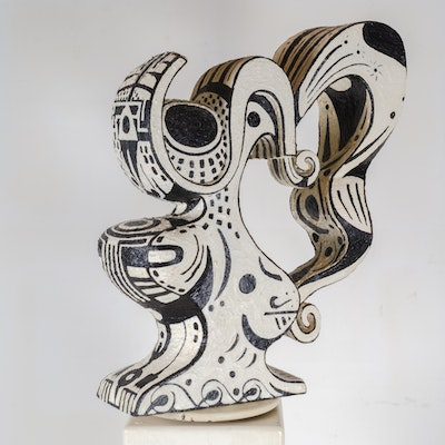 "Bill Schiffer Mixed Media Sculpture ""Vessel 1 - Sally"""