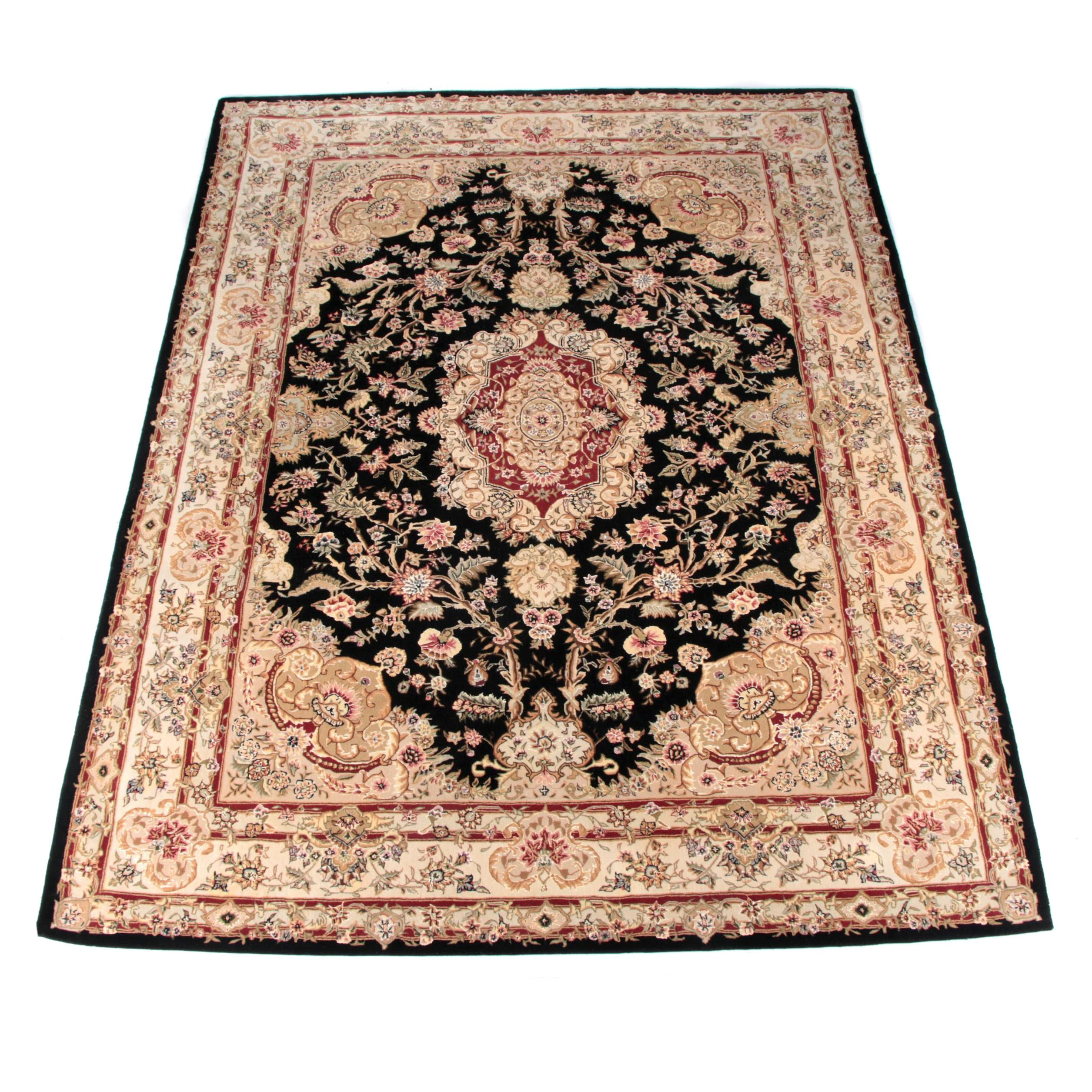 Hand Tufted Chinese Persian Style Wool Area Rug by Nourison