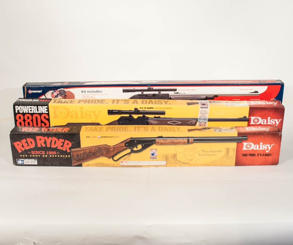 BB Rifles Including a Daisy Red Ryder and Crosman Ultimate Shooter's Kit