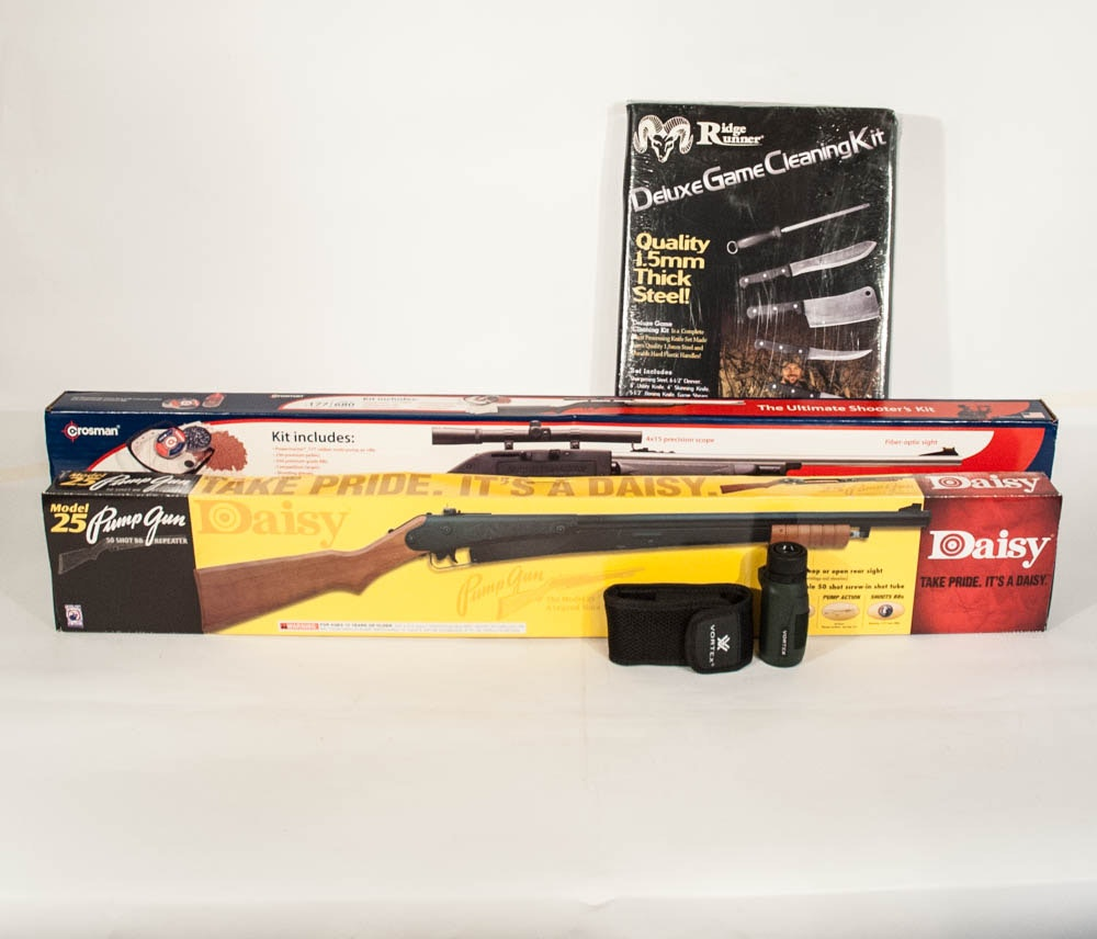 Crosman & Daisy BB Rifles with Deluxe Game Cleaning Kit