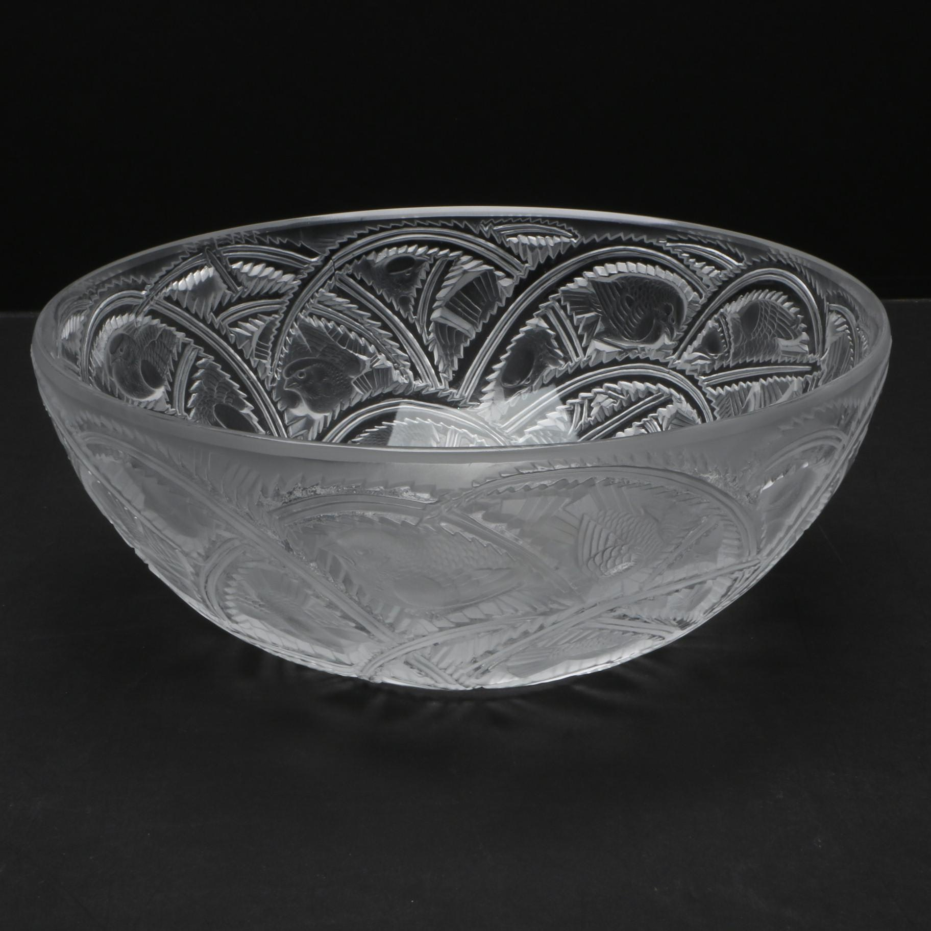 Lalique Pinsons Birds Coupe Bowl