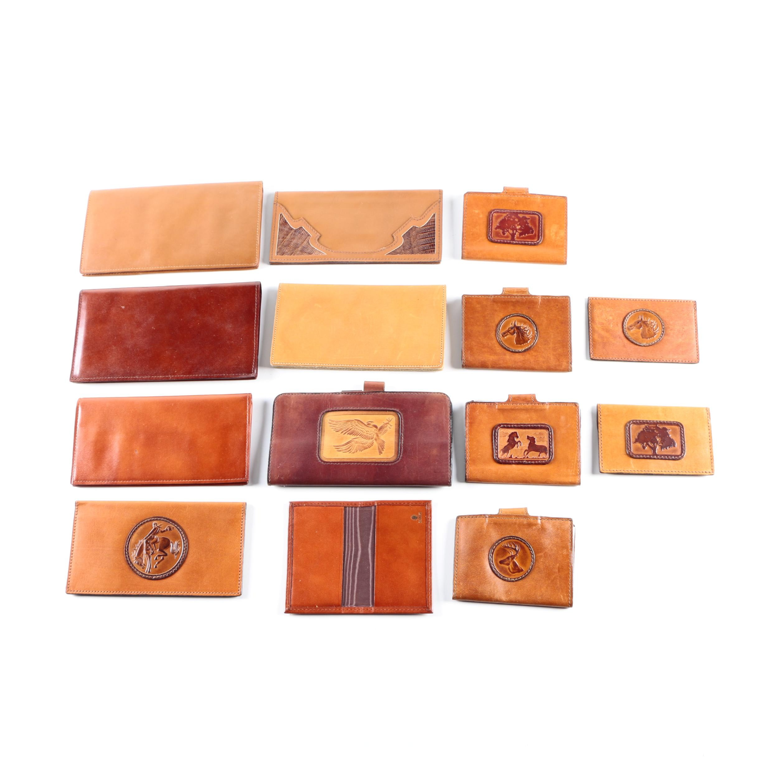 Vintage Leather Wallets Including Indiana Leather Craft