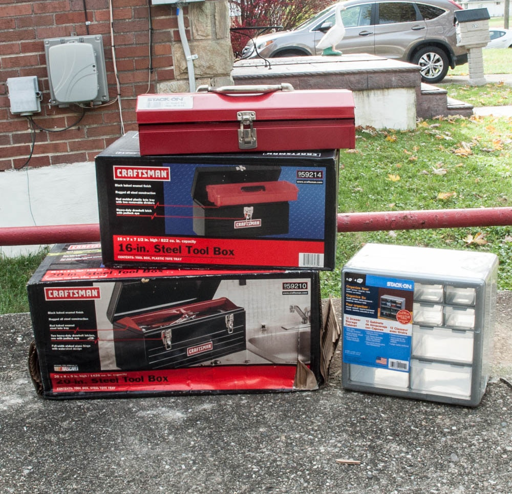 Craftsman Tool Boxes with Stack-On, Tools & Organizer.