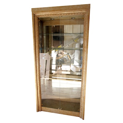 Hollywood Regency Style Illuminated Display Cabinet By Hickory White