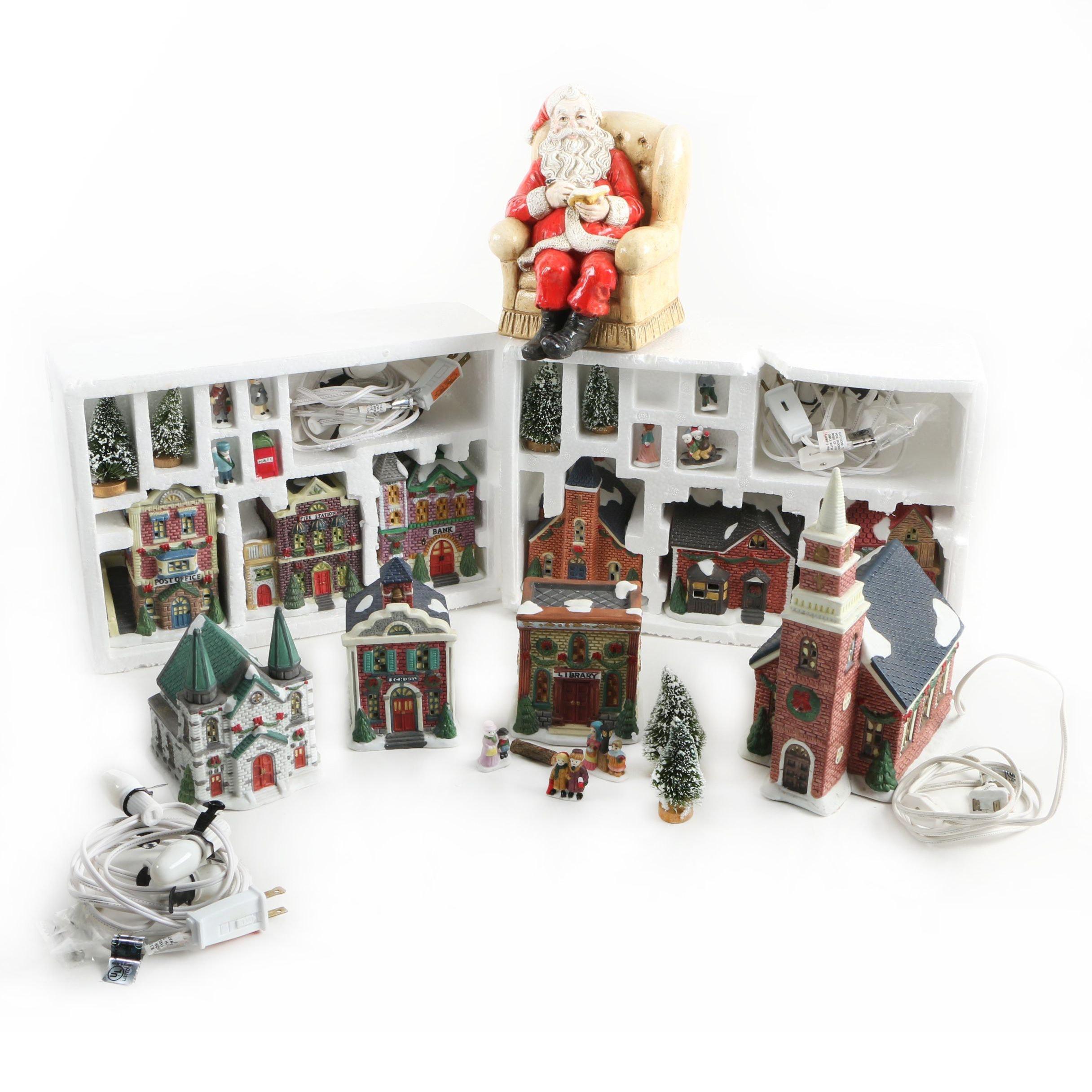 1995 Trim A Home Porcelain Christmas Village Buildings