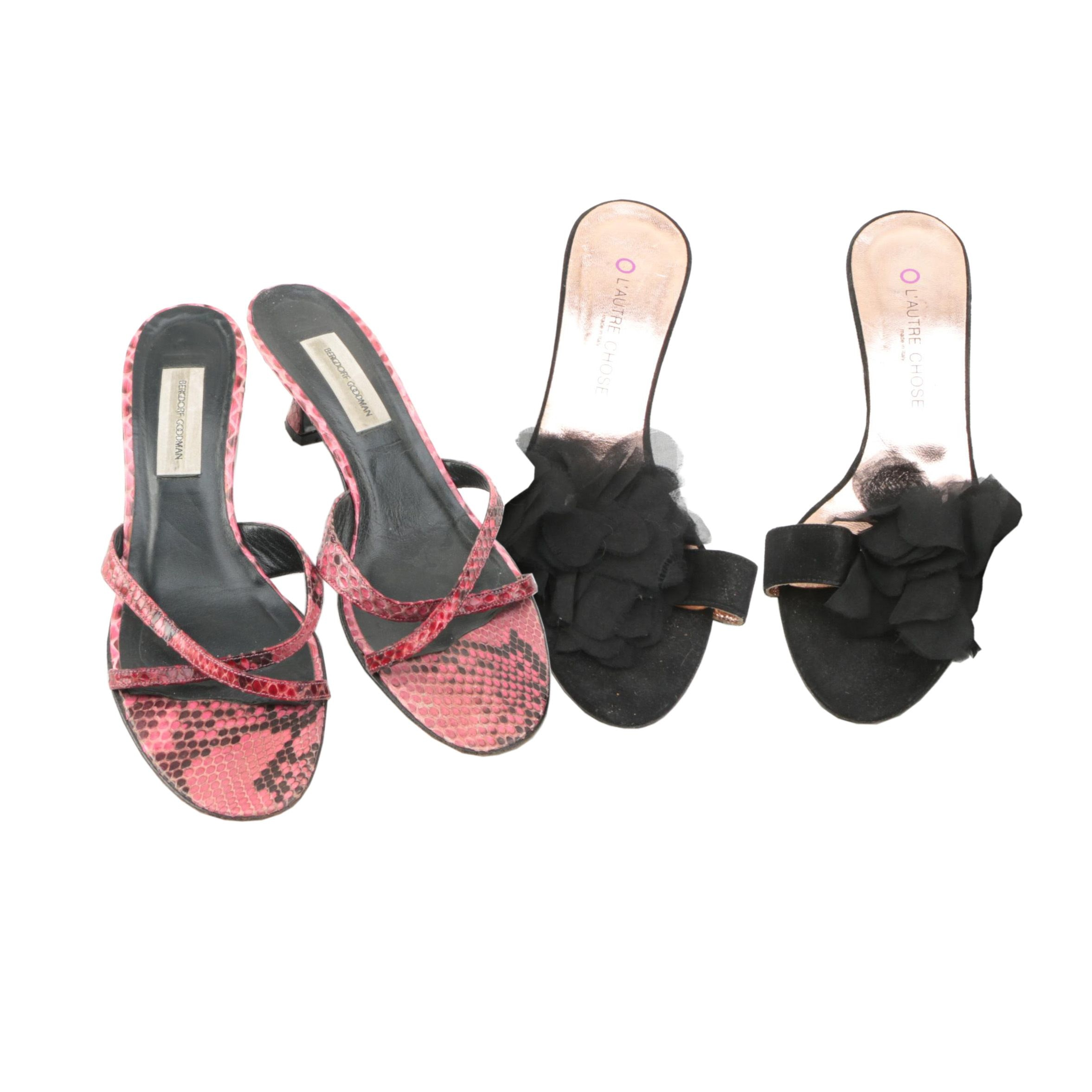 Kitten Heeled Sandals