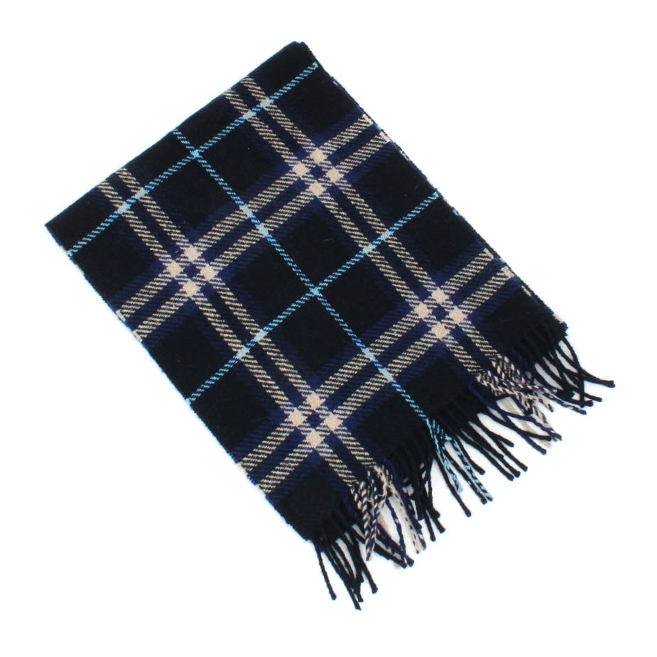 Burberry London Cashmere and Wool Plaid Scarf