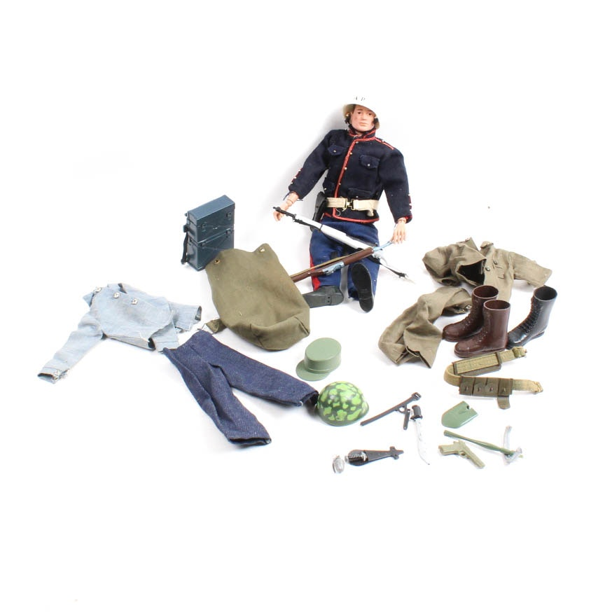 Vintage G.I. Joe Action Figure and Accessories
