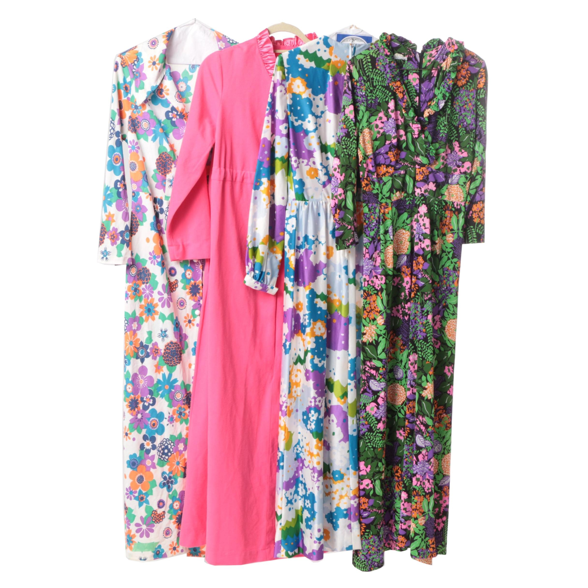 Vintage Floral Dresses and Robe
