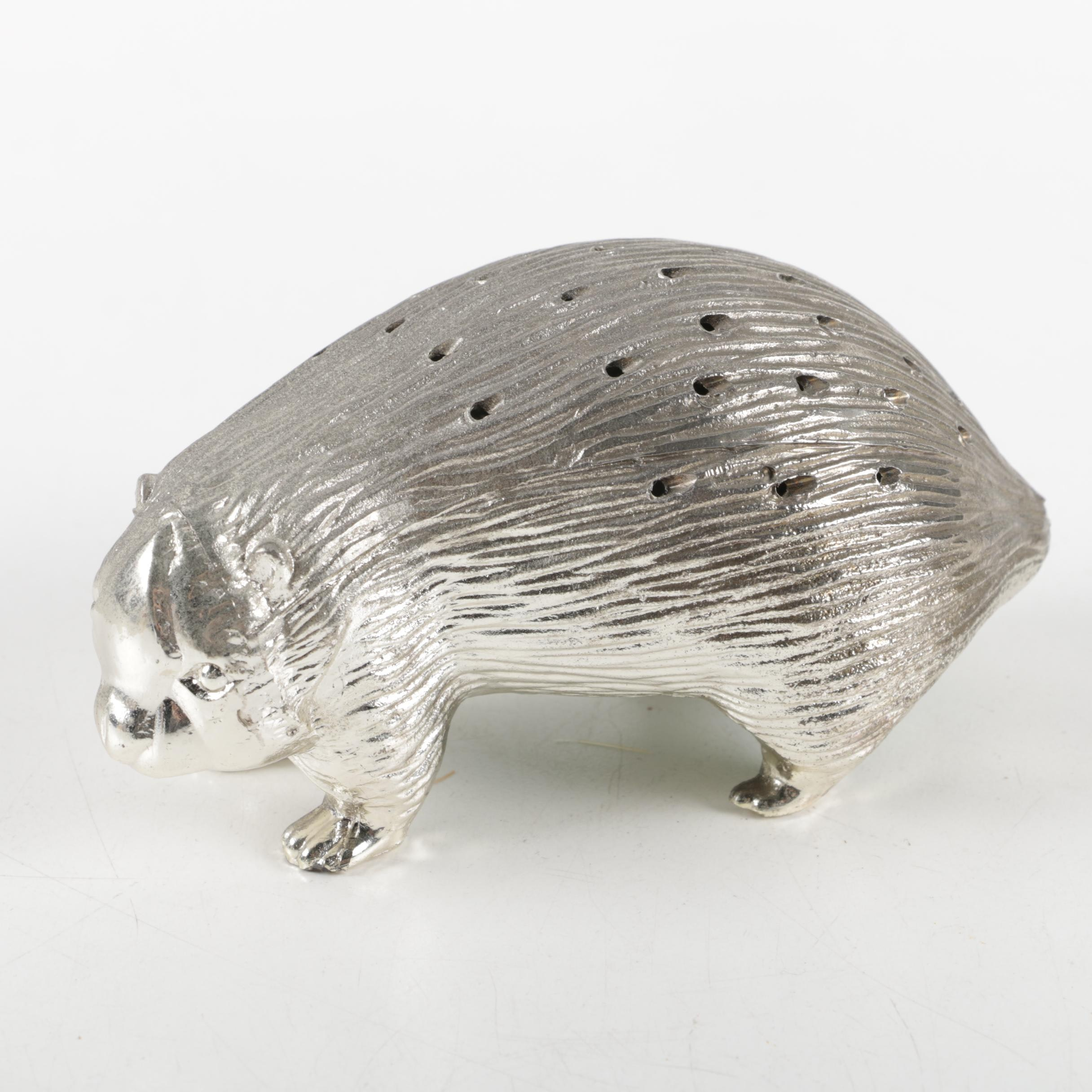 Silver Plate Porcupine Toothpick Holder ... & Silver Plate Porcupine Toothpick Holder : EBTH
