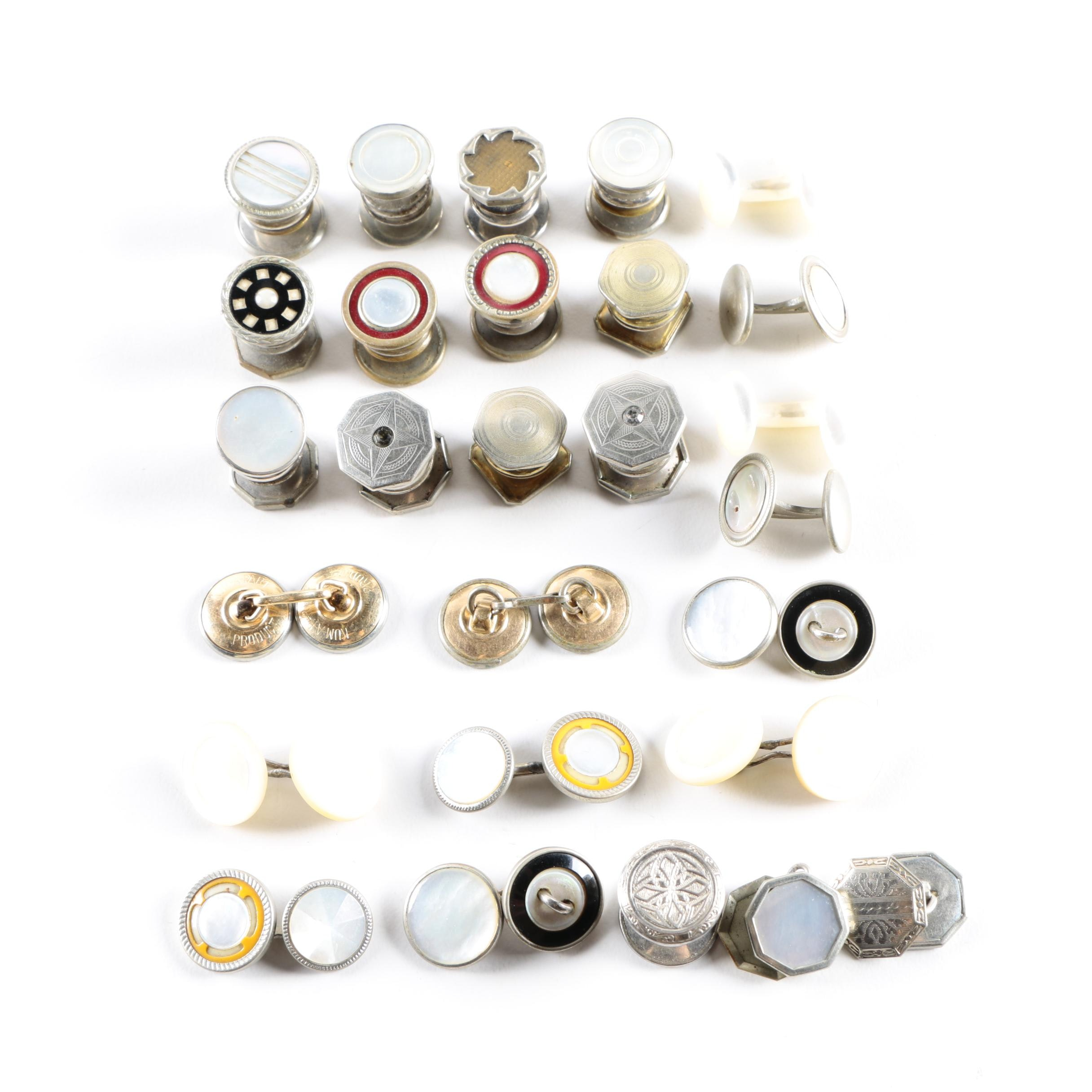 Assortment of Cufflinks Including Sterling Silver