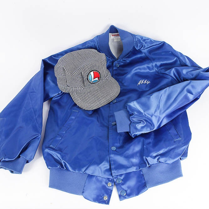 Lionel Engineers Cap and Blue Satin Jacket