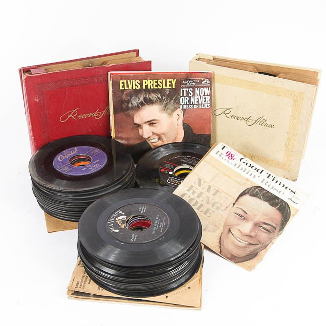 Elvis Presley and Over 100 Other Vintage Records