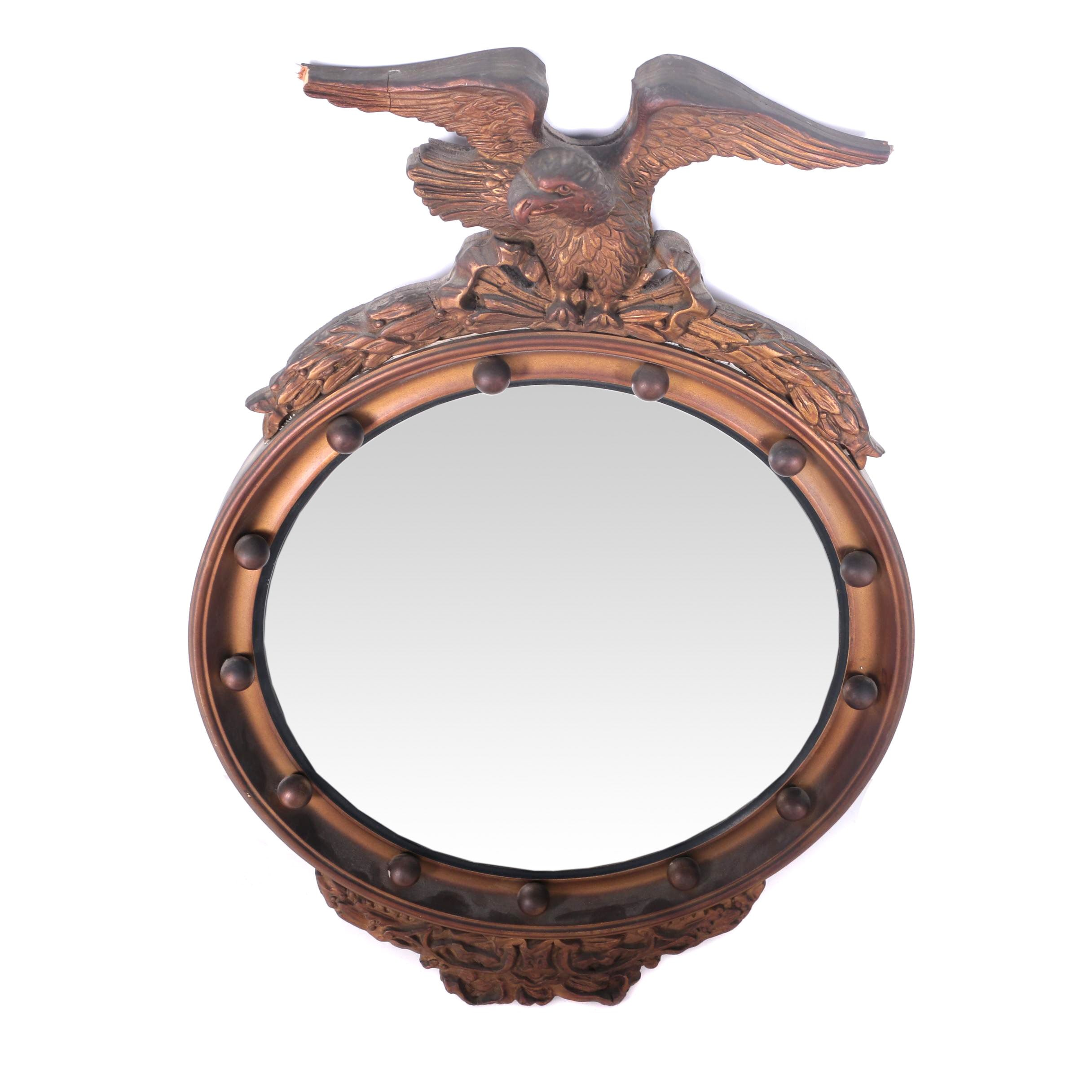 Vintage Federal Style Convex Accent Mirror