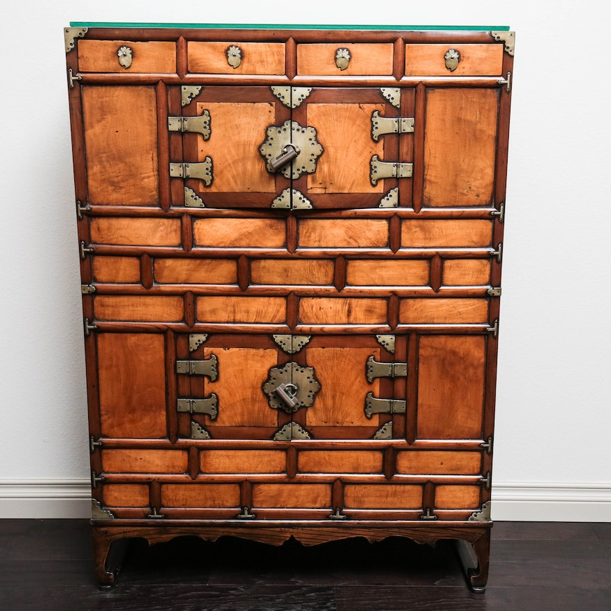 Antique Tansu Asian Cabinet ... - Antique Tansu Asian Cabinet : EBTH