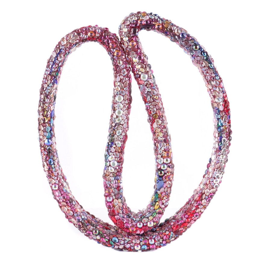Bill Schiffer Bejeweled Mixed Media Sculpture