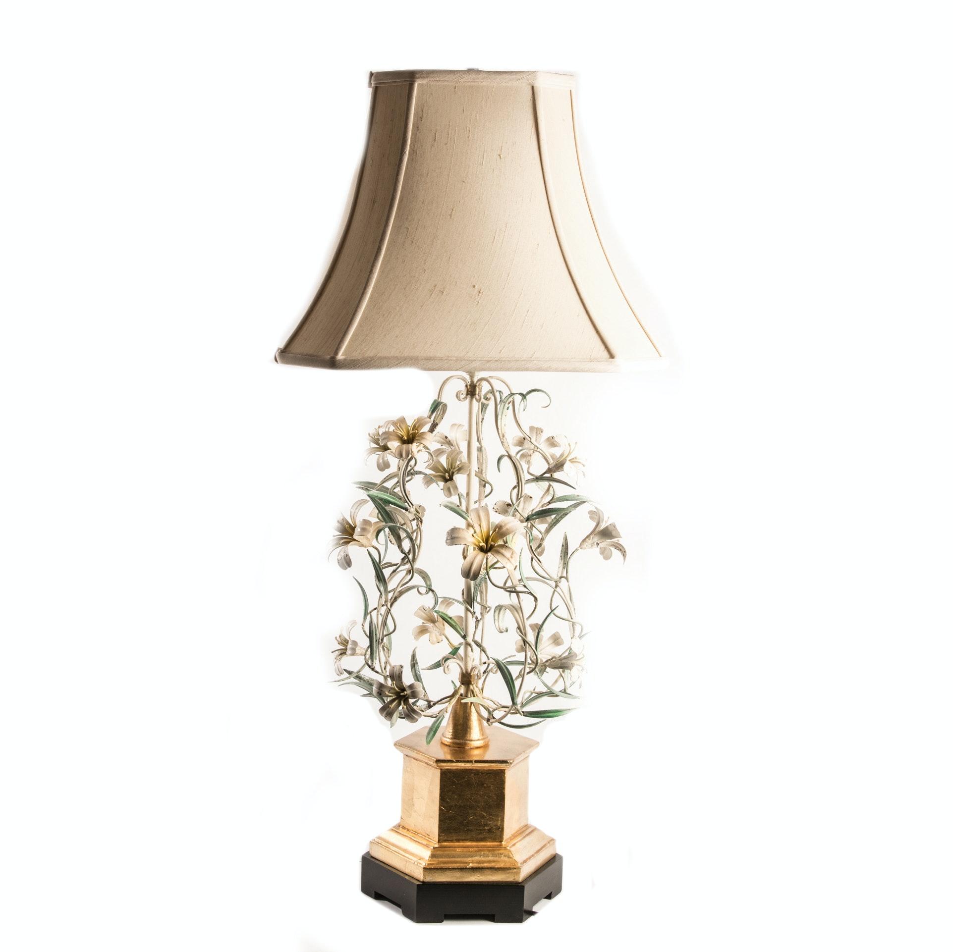 Vintage Italian Tole Table Lamp