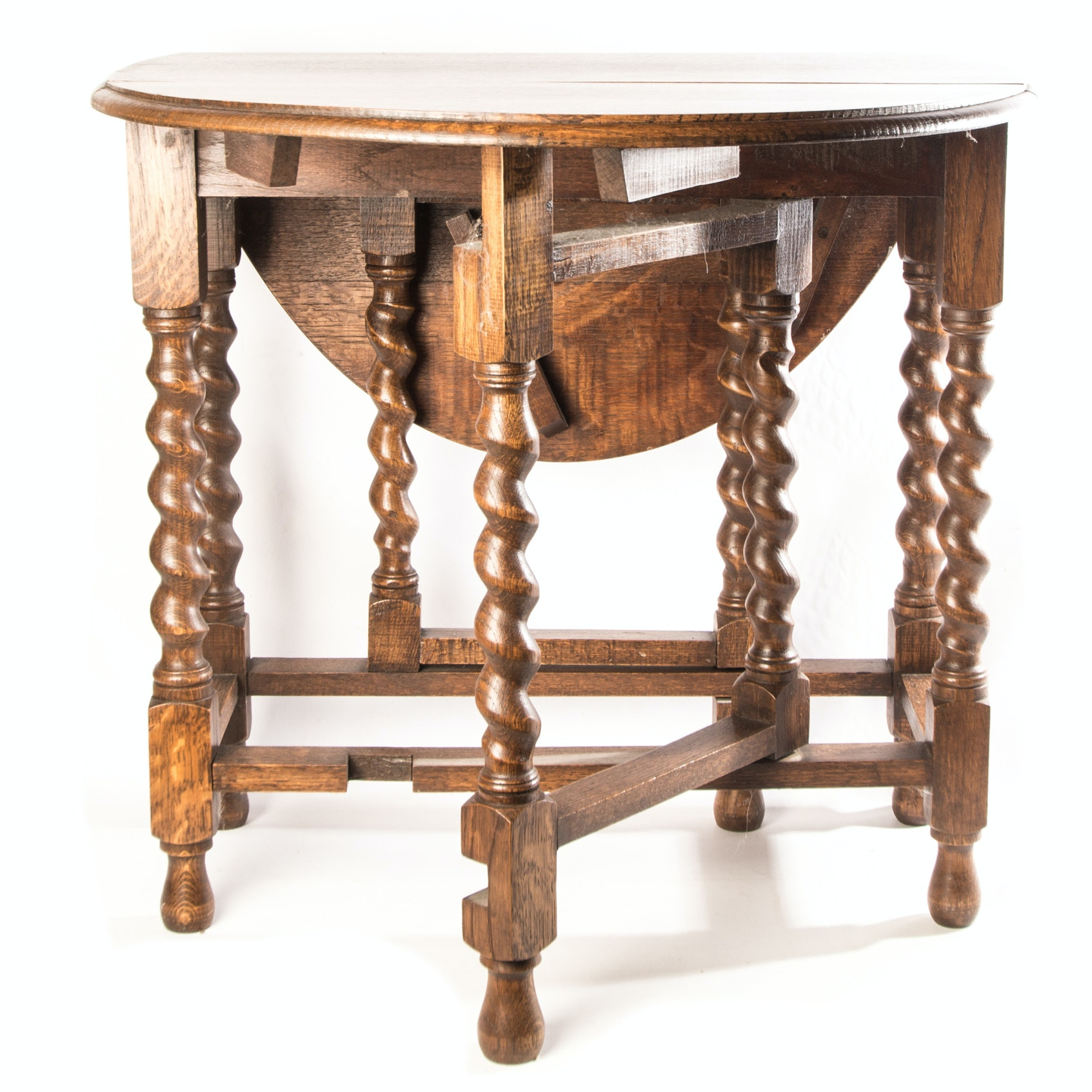 Vintage William And Mary Style Gateleg Table ...