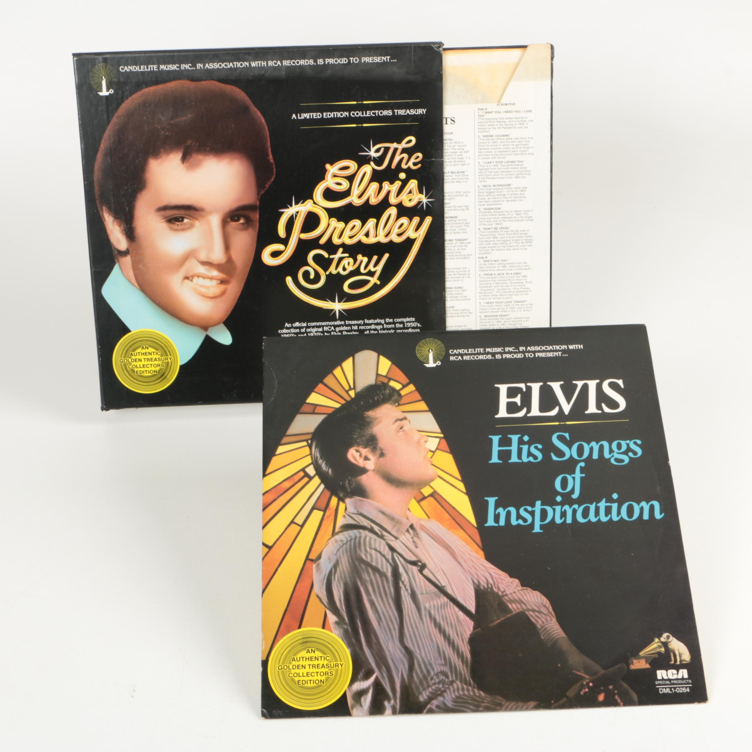 """The Elvis Presley Story"" Box Set and ""His Songs of Inspiration"" LPs"