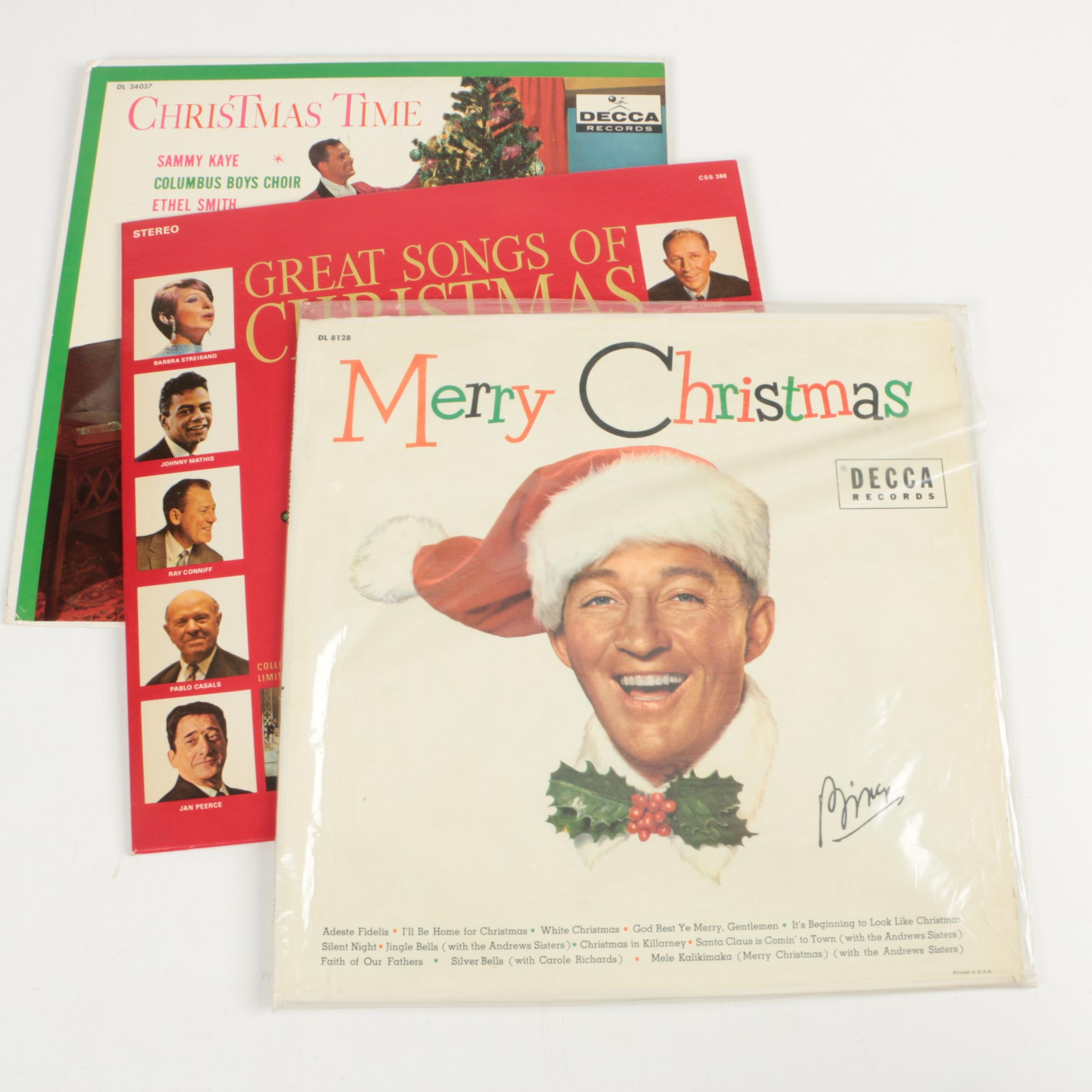 Bing Crosby, Barbra Streisand and Other Christmas Record Albums