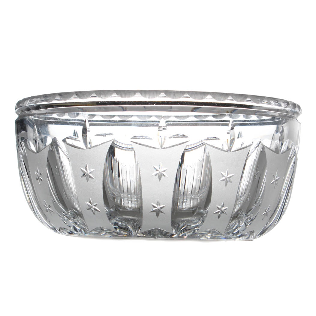 Vintage Hawkes Signed Cut Glass Bowl