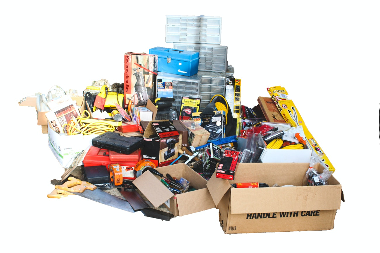Large Assortment of General Workshop Equipment, Gadgets, and Tools