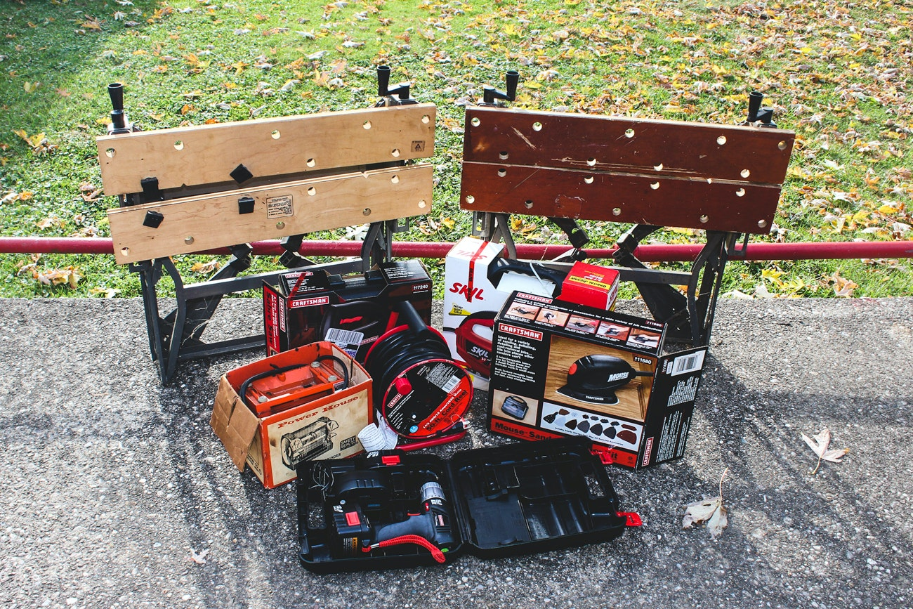 Home Workshop Power Tools & Folding Work Benches