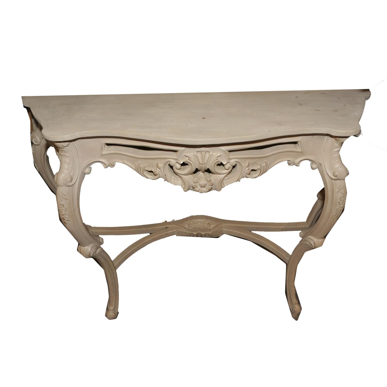 Vintage Rococo Style Console Table
