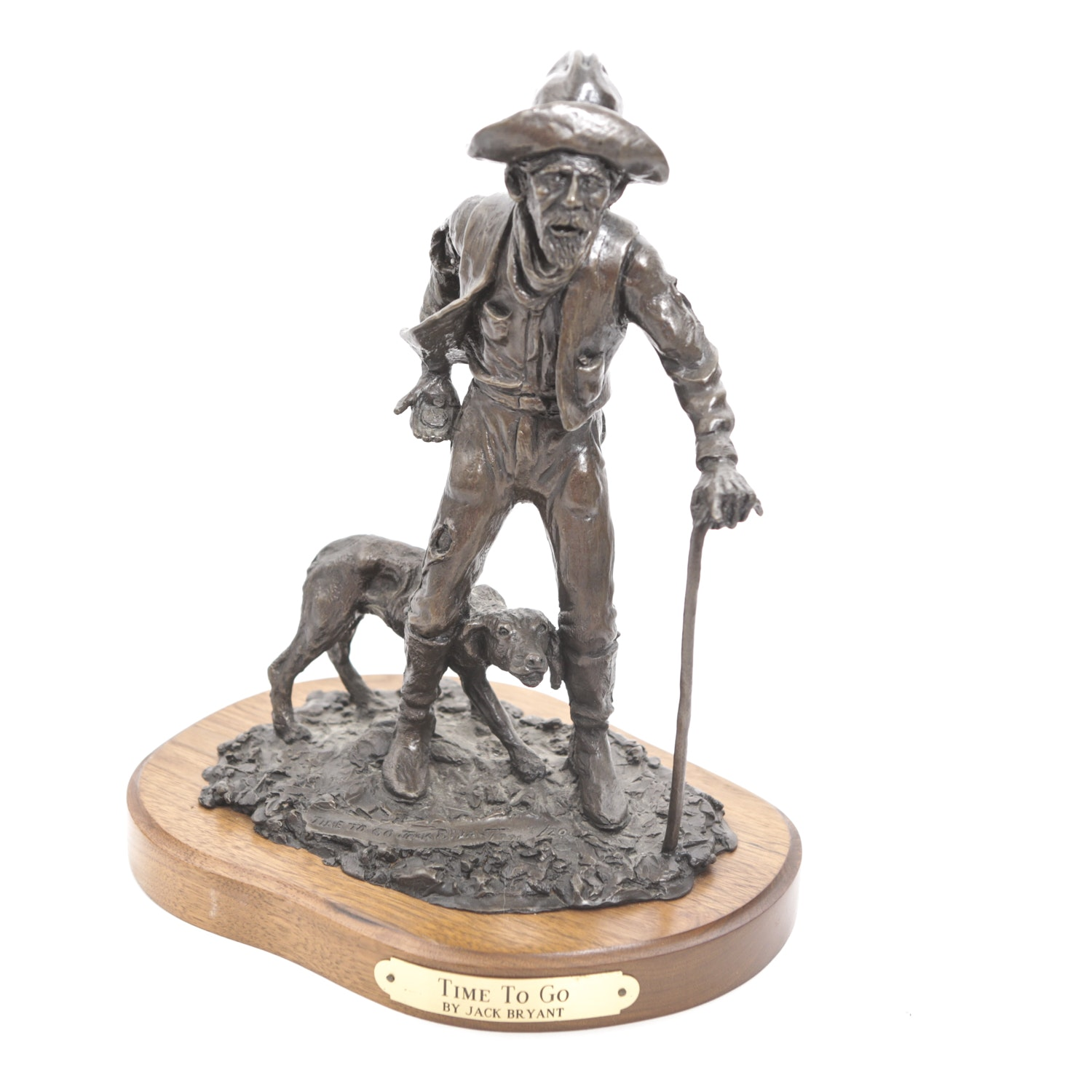 """Jack Bryant """"Time to Go"""" Bronze Sculpture"""