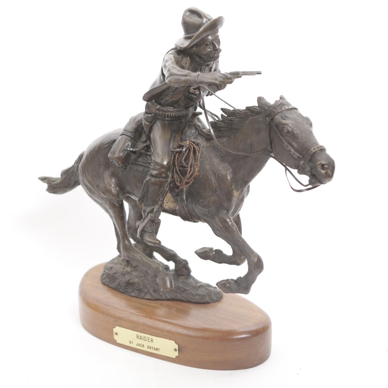 """Jack Bryant Bronze Sculpture """"Raider"""""""