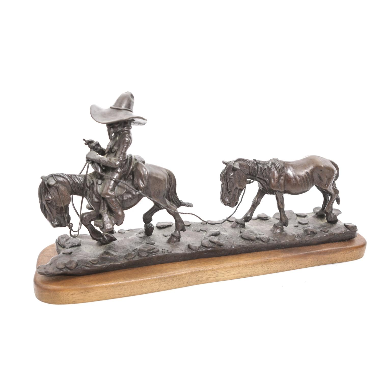 Jack Bryant Bronze Cowboy Sculpture