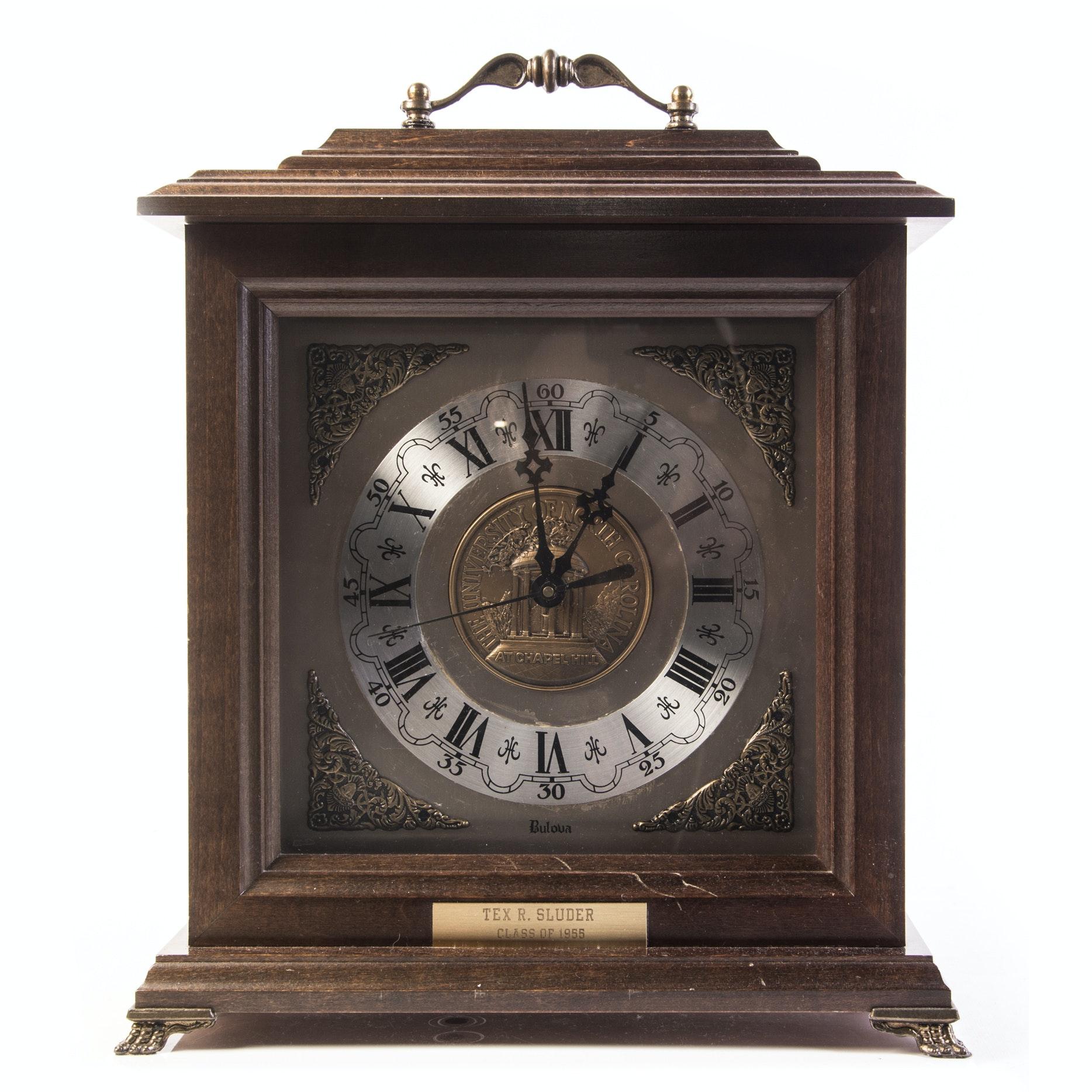 Bulova University of North Carolina at Chapel Hill Carriage Clock
