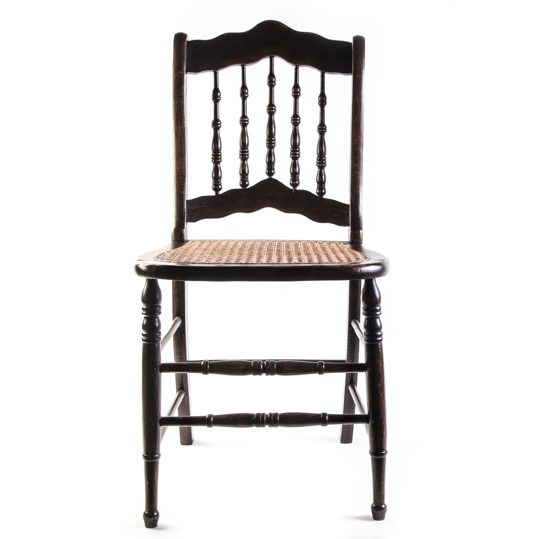 Vintage Caned Seat Spindle Back Chair