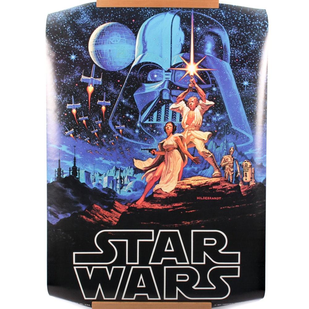 "Original 1977 ""Star Wars"" Poster"