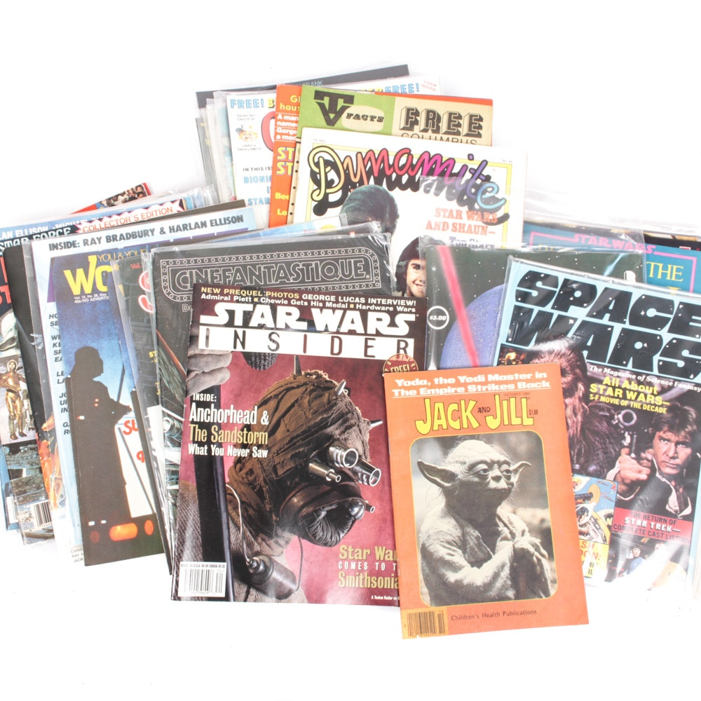 "Vintage ""Star Wars"" Themed Magazine Assortment"