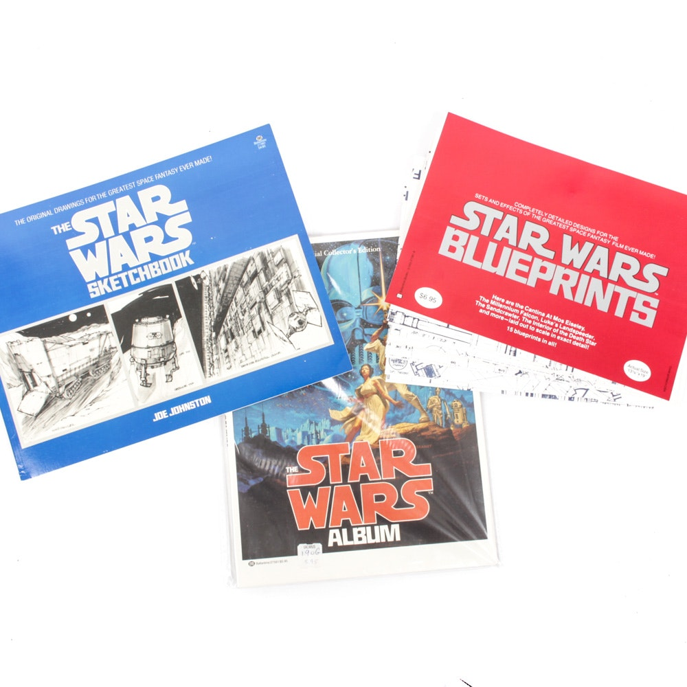 "Vintage ""Star Wars"" Blueprints, Sketchbook and Album"