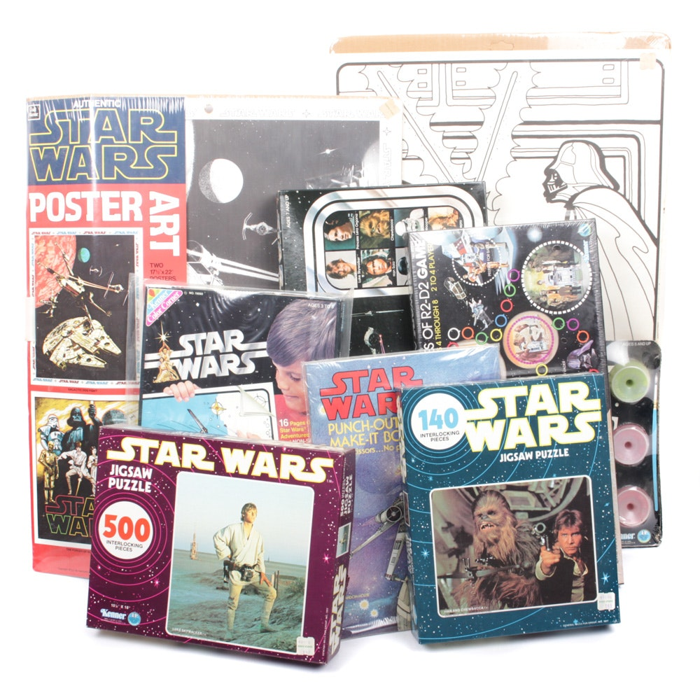 "Vintage 1970s ""Star Wars"" Board Games and Poster Kits"