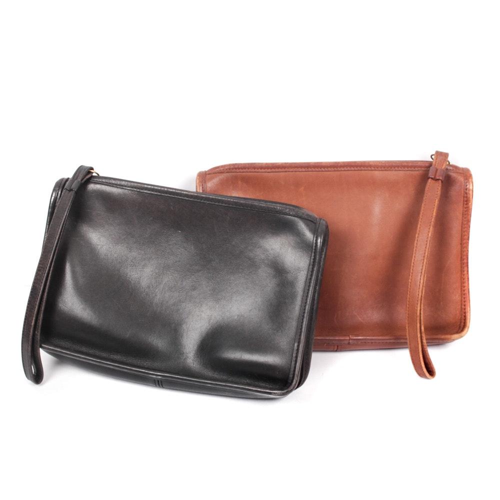 Vintage Coach Leather Clutch Handbags