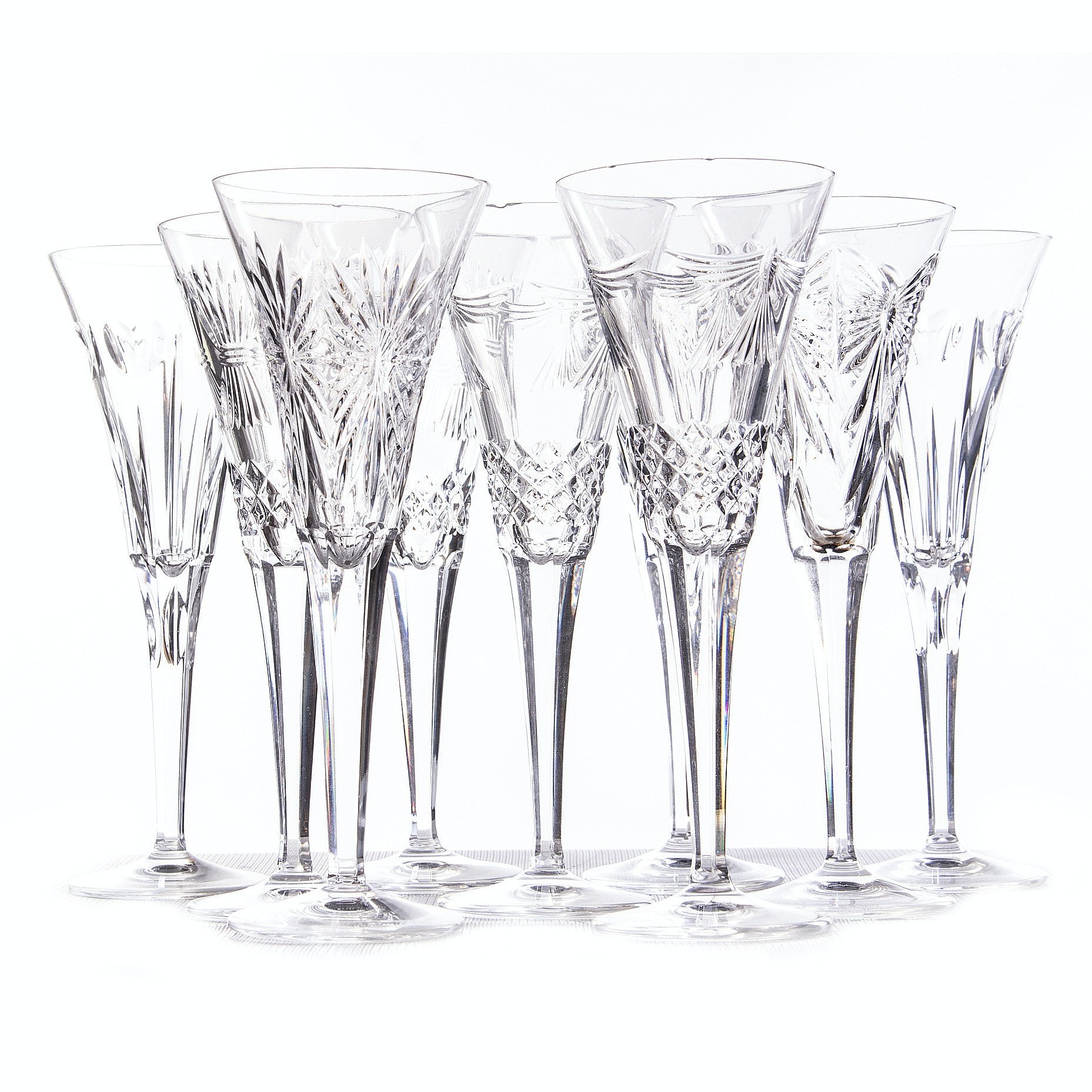 "Waterford ""Millenium Series"" Toasting Champagne Flutes"
