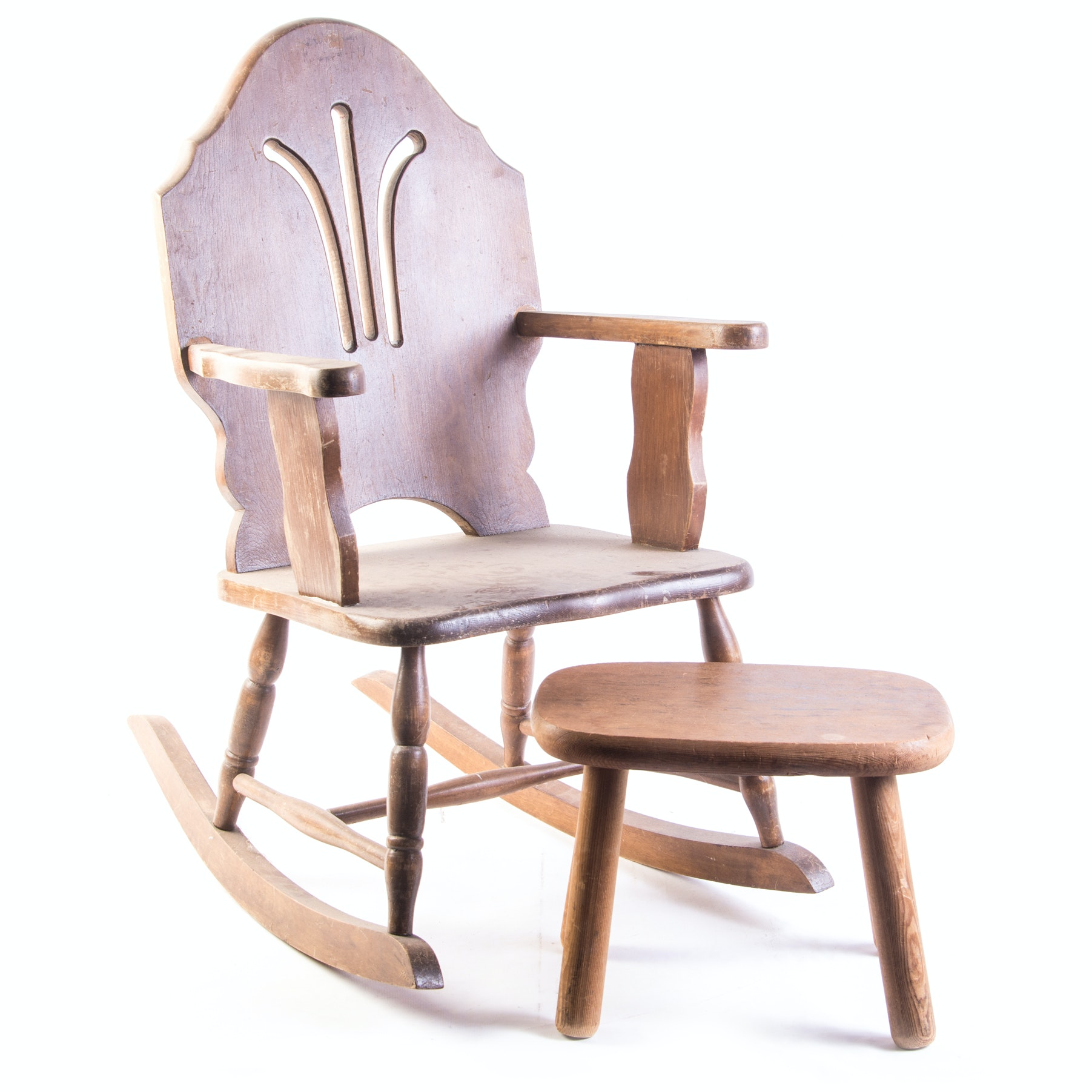 Vintage Child's Rocker and Stool