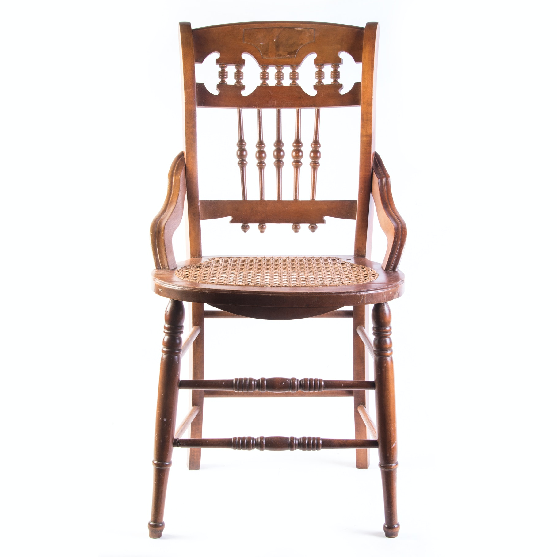 Victorian Eastlake Style Caned Seat Chair
