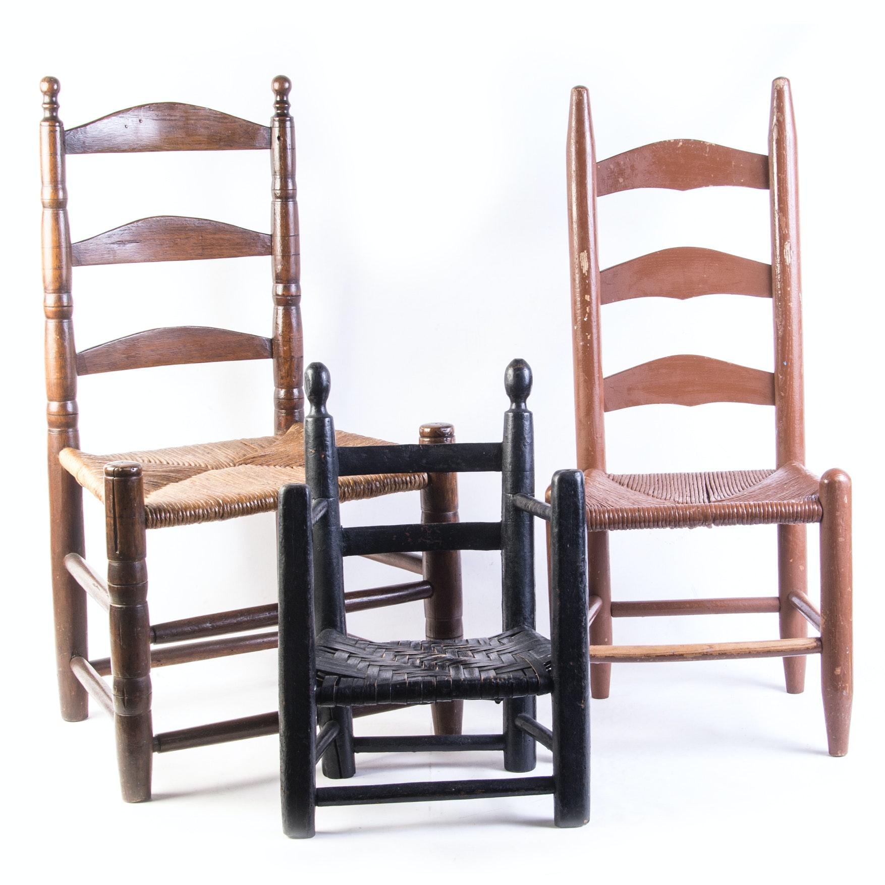 Vintage Children's Ladderback Chairs
