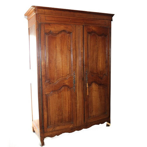 Vintage antique furniture wardrobe walnut armoire French Antique Provincial Louis Xv Walnut Armoire Loveseat Vintage Furniture Online Furniture Auctions Vintage Furniture Auction Antique