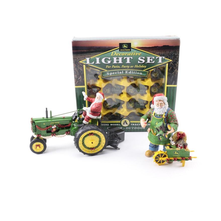 John Deere Christmas Figures and Patio Lights : EBTH